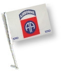 Car Flag with Pole - 82 AIRBORNE
