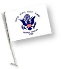 Car Flag with Pole - COAST GUARD