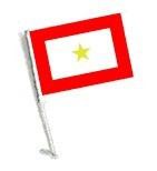 Car Flag with Pole - GOLD STAR