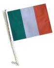 Car Flag with Pole - IRELAND