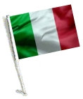 Car Flag with Pole - ITALY
