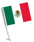Car Flag with Pole - MEXICO