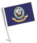 Car Flag with Pole - NAVY