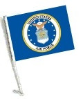 Car Flag with Pole - LICENSED U.S. AIR FORCE COAT OF ARMS