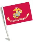 Car Flag with Pole - LICENSED U.S. MARINE CORPS