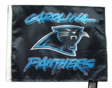 NFL Carolina Panthers 11in x 15in Golf Cart or Car Flag