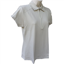 Nancy Lopez Golf Ladies Short Sleeve Polo - Flare - Champagne - Medium