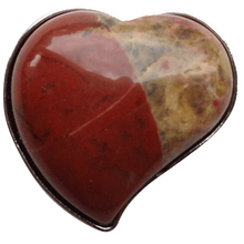 ReadyGolf - Gemstone Heart Shaped Ball Marker - Flame Jasper