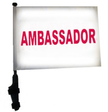 AMBASSADOR 11x15 inch Golf Cart Flag with Pole