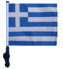 GREECE 11x15 inch Golf Cart Flag with Pole