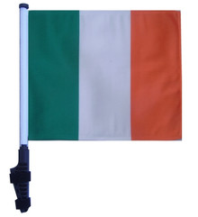 IRELAND 11x15 inch Golf Cart Flag with Pole