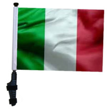 ITALY 11x15 inch Golf Cart Flag with Pole