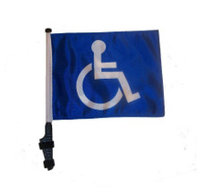 Handicap 11x15 inch Golf Cart Flag with Pole