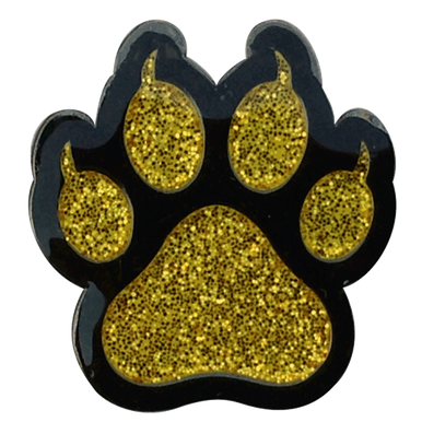Gold Cat Paw Print Ball Marker Amp Hat Clip By Readygolf