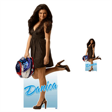 Lifesize & Miniature Cardboard Cutout Combo - Danica Patrick - In Dress