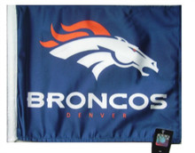 NFL Denver Broncos 11in x 15in Golf Cart or Car Flag