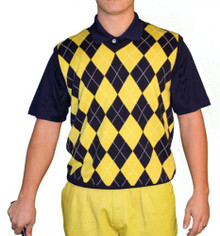 Golf Knickers Men's Sweater Vest Argyle