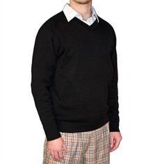 Golf Knickers Men's Solid Long Sleeve Sweater