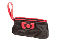 Hello Kitty Diva Collection Bow Pouch - Black and Red