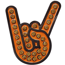 ReadyGolf - Hook 'em Horns Gesture Ball Marker & Hat Clip
