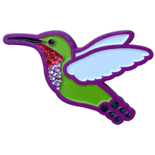 ReadyGolf - Hummingbird Ball Marker & Hat Clip with Crystals