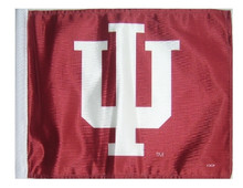 Indiana University Hoosiers 11in x 15in Golf Cart or Car Flag