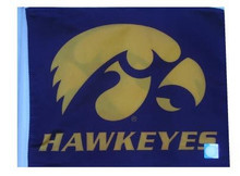 Iowa Hawkeyes 11in x 15in Golf Cart or Car Flag