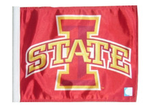 Iowa State University 11in x 15in Golf Cart or Car Flag
