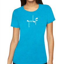 It Says Golf Women's Turquoise Premium T-Shirt