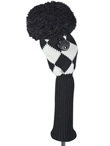 Just 4 Golf Headcovers: Fairway - Diamond in Black & White