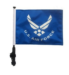 LICENSED Air Force 11x15 inch Golf Cart Flag with Pole