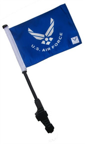 LICENSED US AIR FORCE Small 6x9 inch Golf Cart Flag with EZ On/Off Pole Bracket