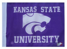 Kansas State University 11in x 15in Golf Cart or Car Flag
