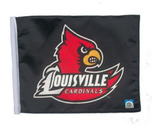 Louisville Cardinals 11in x 15in Golf Cart or Car Flag