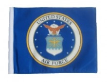 "Golf Cart Flags - Licensed Air Force Coat of Arms 11""x15"" Replacement Flag"
