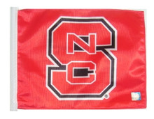 North Carolina State University 11in x 15in Golf Cart or Car Flag
