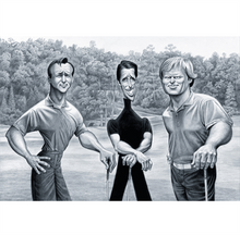 "David O'Keefe: Big 3 - Tribute to Palmer, Player & Nicklaus 18""x12"""