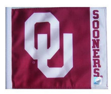 Oklahoma Sooners (Name On Fly End) 11in x 15in Golf Cart or Car Flag
