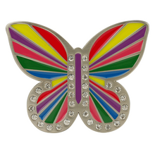 Rainbow Butterfly Buckle by Druh Belts