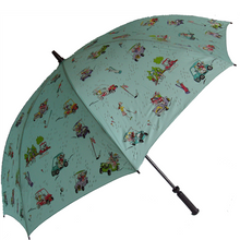 "Barth & McCallig Rainy Day 60"" Golf Umbrella - Turquoise"