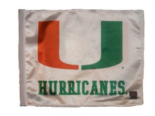 Miami Hurricanes 11in x 15in Golf Cart or Car Flag