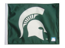 Michigan State Spartans 11in x 15in Golf Cart or Car Flag