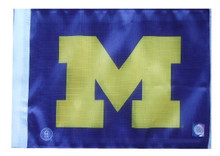 Michigan Wolverines 11in x 15in Golf Cart or Car Flag