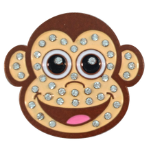 ReadyGolf - Monkey with Crystals Ball Marker & Hat Clip
