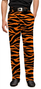 Loudmouth Golf Mens Pants - Orange & Black Tiger Stripes