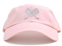 Dolly Mama Ladies Baseball Hat - Crossed Club Heart on Pink