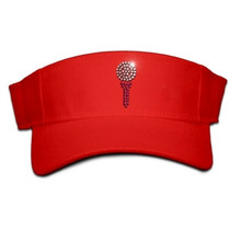 Titania Bling - Golf Ball and Tee Rhinestone Women's Velcro Visor