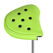 Just 4 Golf Headcovers: Putter Cover Mallet  - Dots in Lime & Black