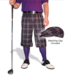 Golf Knickers Men's Concord 'Par 5' Limited Plaid Golf Knickers & Cap