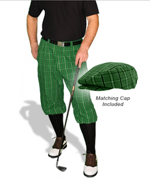 Golf Knickers Dark Green Limited Edition Men's Plaid Golf Knickers & Cap